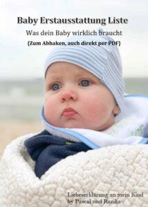 Baby-Erstausstattung-Liste PDF zum Abhacken - Was dein Baby wirklich braucht