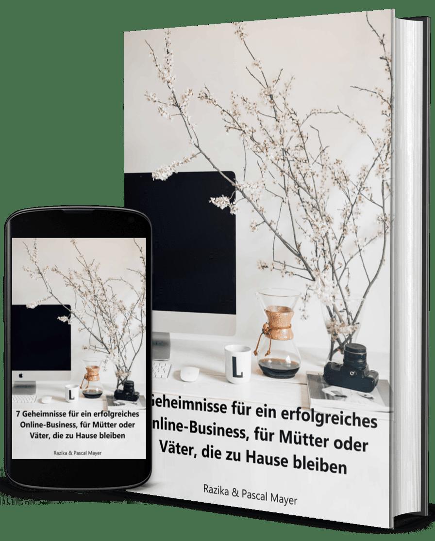 7 Geheimnisse für ein erfolgreiches Online-Business, für Mütter oder Väter, die zu Hause bleiben - 3D COVER